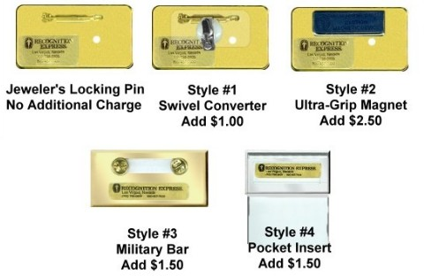 Recognition Express Badge Fasteners